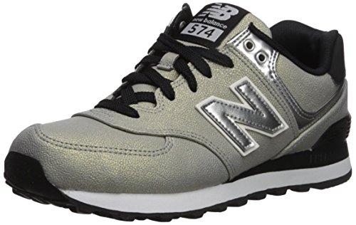 New Balance 574, Zapatillas para Mujer, Plateado (Metallic Silver), 40 EU