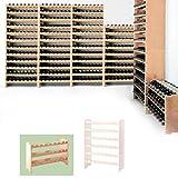 Sistema modular Botellero MEDOC, Módulo 1, pino natural, capacidad 24 botellas, apilable / ampliable - alt. 44,5 x anch. 68 x pr. 27 cm