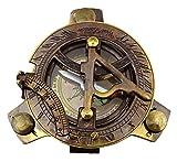 Antike Magnetkompass Wasser Sundial 4.2 Messing Maritime Kompass