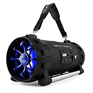 auna Soundstorm Bluetooth Speaker • Boombox • 1000W Max • NFC Interface • Echo • 2-Band Equaliser • Light Effect • USB • 3.5 mm Sources • Light Effect • Stable Housing • Black