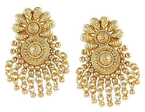Ethnischer Schmuck Traditionelle Bollywood-Ohrringe vergoldet indischer Party-Schmuck