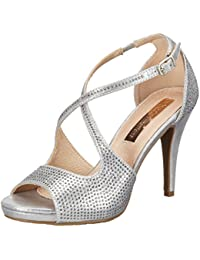 Xti Silver Metallic Textile Ladies Shoes ., Pumps femme