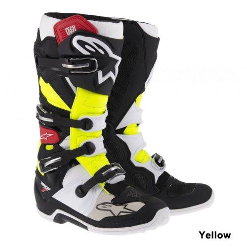Alpinestars Bottes de motocross Tech 7Noir/Turquoise/Blanc/Rouge Schwarz