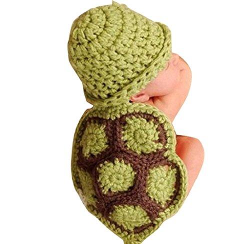 Tonsee 2015 neue Hot Baby Neugeborenen Fotografie Requisiten Turtle stricken häkeln Kleidung Mütze Hut Outfit Foto Props Drop