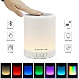 Multicolor Lampe de Chevet Lampe de Table Tactile Portable avec Haut-Parleur Bluetooth,Mains libre, Dimmable Couleur Veilleuse, 3 luminosité du levier, Cadeau pour Enfants Amis Famille …