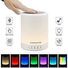 Multicolor Lampe de Chevet Lampe de Table Tactile Portable avec Haut-Parleur Bluetooth,Mains libre, Dimmable Couleur Veilleuse, 3 luminosité du levier, Cadeau pour Enfants Amis Famille …