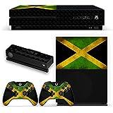 Drapeaux Jamaïque 3, grunge, Autocollant Skin Peau Vinyl avec Motifs Colorés et Effet de Cuir pour XBOX ONE S NOIR