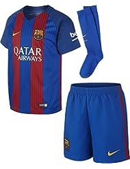 Nike Fcb Lk Hm Kit Conjunto Deportivo, Niños, Azul (Sport Royal / Gym Red / University Gold), L