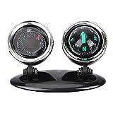 iTimo 2en 1Boussole Thermomètre de Voiture Décorations Guide Boule Direction Boule de Tableau de Bord Auto Accessoires Intérieur Décoration de Voiture