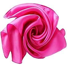 HIDOUYAL Foulard Carré Multicolore OL Classique 52   52cm en Soie Uni d8e62ecf55f