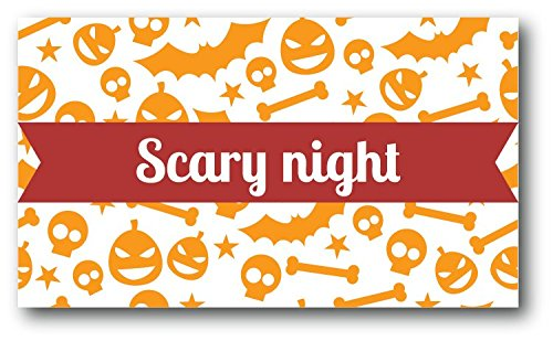 (Halloween Scary Night Hochwertigen Auto-Autoaufkleber 12 x 8 cm)