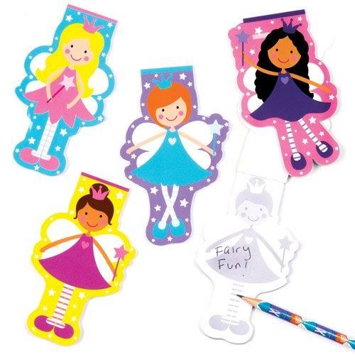 Juego Escolar de Cuadernos de Princesas Hadas para Niños - Perfectos para Bolsas Sorpresa o como Regalo para Niños (Pack de 8).