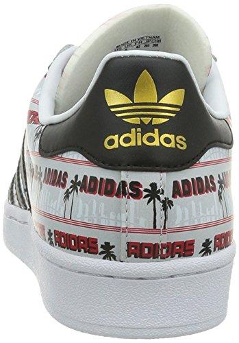 Nigo Uomini In Bearfoot Pelle Basso Superstar Liscia Adidas Bianca Sneaker CvO6wA