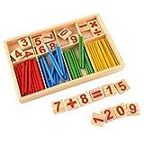 Peradix 52 Rechenstäbchen Holz Zahlen Mathematik Spielzeug Ausbildung für Kinder