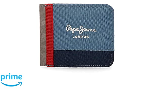 PEPE JEANS Brieftasche London Münzbörse Blau Koffer