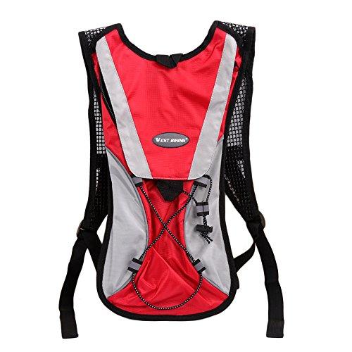 West Biking Hydration Wasser Pack Rucksack Blase Tasche Radfahren Wandern Klettern Beutel und 2