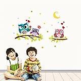 Stickers Muraux,LUCKYCAT Nouveau Bricolage Mural Stickers 3D Fond D'écran La chambre des enfants Amovible Imperméable Cartoon Animaux Sticker mural 2018 (Multicolore)