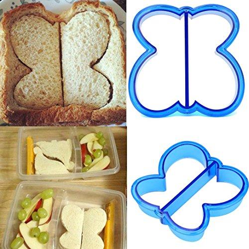 masrin Kinder DIY Mittagessen Sandwich Toast Cookies Form Kuchen Brot, Kekse Lebensmittel Cutter Schimmel blau (Si Cookie Cutter)