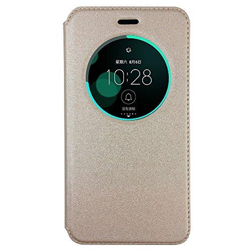 BLUGUL ASUS ZenFone 3 ZE520KL Hülle, Intelligent Schlaf Stand Function, Schutzhülle für ZenFone 3 ZE520KL Gold