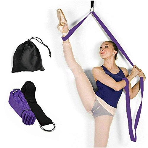 GFEU Türbeindehner, elastisches Bein, dehnbar, für Ballett, Gymnastik, Tanz, Karate, Damen, dunkelviolett