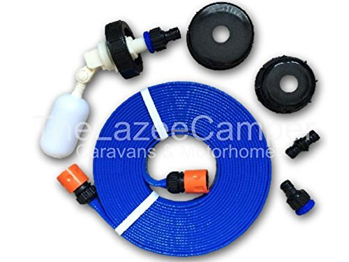 Thelazeecamper Caravan universal FLAT HOSE KIT autofill Mains Water adaptor 5M for AQUAROLL AND SUPERPITCH fast postage…