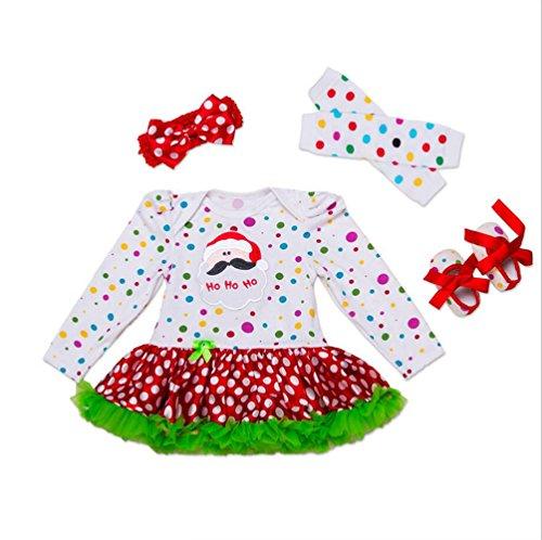 Imagen de vlunt vestido de navidad fiesta princesa para bebé niña disfraz de navidad pelele fiesta primavera otoño falda gasa juego de cuatro piezas