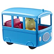 Fantastic free-wheeling school bus with fixed miss rabbit figure. Roof lifts up to reveal the seats inside. Scaled for play with other little character figures & playsets. Styles may vary. Free-wheeling school bus. Includes fixed Miss Ra...