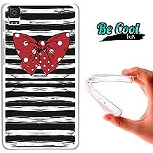 Becool® Fun - Funda Gel Flexible para Bq Aquaris E4.5 .Carcasa TPU fabricada con la mejor Silicona, protege y se adapta a la perfección a tu Smartphone y con nuestro diseño exclusivo con camiseta marinera y pajarita