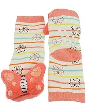 Girls Boys Baby antiscivolo antiscivolo 3D-Pantofole con sonaglio-Ciuccio 0-2 anni