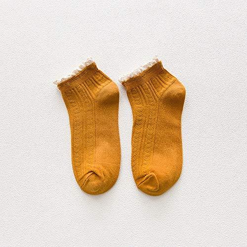 Calcetines tobilleros amarillos color amarillo mostaza