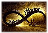 Liebeslicht Valentinstagsgeschenk Infinity I personalisiert mit Namen I Das perfekte Liebesgeschenk zum Valentinstag, Geburtstag oder Jahrestag für Frau Mann Freund Freundin Paare Männer Frauen
