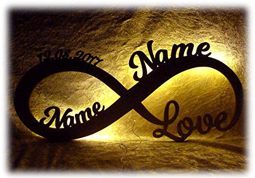 Liebeslicht Valentinstagsgeschenk Infinity I personalisiert mit Namen I Das perfekte Liebesgeschenk zum Valentinstag, Geburtstag oder...