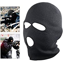 Edealing Estilo 1PCS Nuevo Negro Balaclava SAS 3 Agujero Máscara del calentador del cuello Paintball Pesca Esquí Sombrero