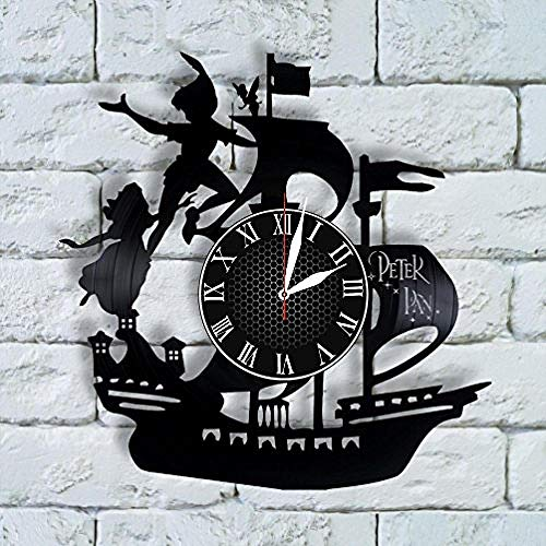 AIYOUBU Peterart Uhr Peternursery Decor Peterwedding Geschenk Peternursery Bettwäsche Neverland Captain Hook Kostüm Cosplay