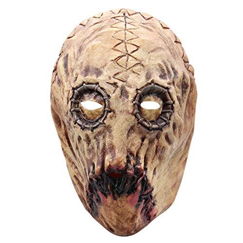 Kostüm Dead Dj - Hffan Horror Kopfmaske Erwachsenes Messer Narbe Latex Schmelzenden Gesichtes Blutigen Maske Furchtsames Walking Dead Party Kostüm Gesichtsmaske Cosplay Karneval Gesichtsmaske