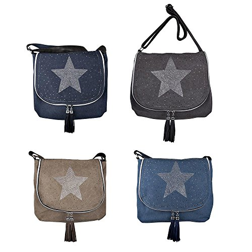 Your Best Choice, Borsa a tracolla donna multicolore multicolore Taglia unica Hellblau
