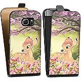 Samsung Galaxy S6 Tasche Hülle Flip Case Disney Bambi Geschenke Fanartikel