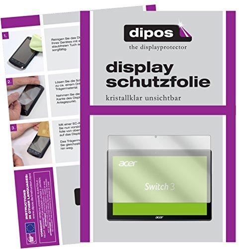 dipos I 2X Schutzfolie klar passend für Acer Switch 3 SW312-31 Folie Bildschirmschutzfolie