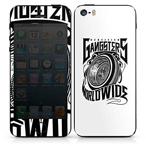 Apple iPhone 4s Case Skin Sticker aus Vinyl-Folie Aufkleber Joker - Gangsters Reifen Felgen DesignSkins® glänzend