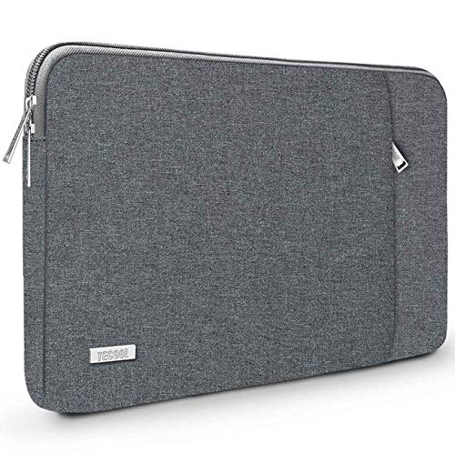 TECOOL 14 Inch Laptop Sleeve Protective Case with Accessories Pocket for 2016-2019 MacBook Pro 15, 14-inch Huawei Lenovo Dell HP Acer ASUS Laptops Ultrabooks,Dark grey