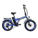 Velobecane Fahrrad Elektrische Snow blau