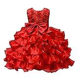Mädchen Kinder Prinzessin Festkleider Hochzeit Partykleider Brautkleid