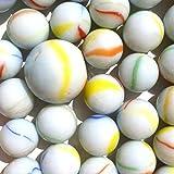 Neez Murmeln, Glasmurmeln, Deko Kugeln Durchsichtig Klare Dekoration Glaskügelchen bunt Spielzeug, Packung mit 50/100/200 Stück (Packung mit 50 milchig)