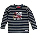 SALT AND PEPPER Jungen Langarmshirt Longsleeve Fire Stripe, Grau (Dark Grey Melange 247), 128