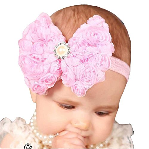 Filles Infant-Bandeaux Bowknot Band-BZLine (Pink)