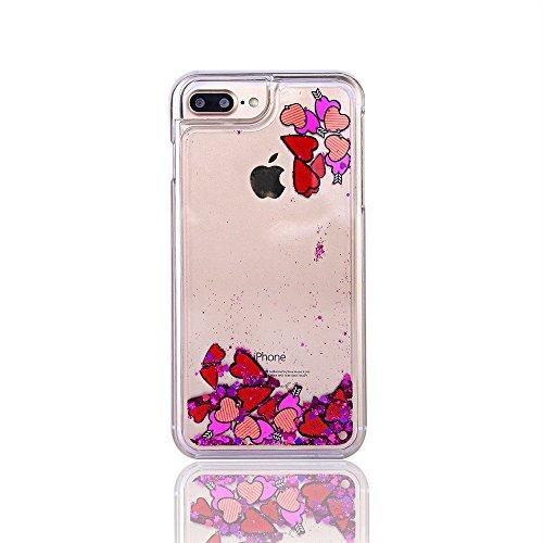 iPhone 7 Case for Girls,iPhone 7 Coque Anti chock Plastic Liquide Coque Bling Flash Etui Case Cover pour iPhone 7 4.7 Pouce,iPhone 7 Coque Transparente,iPhone 7 Coque Bling Diamant Cœur Etui Housse Co Other Pattern 1