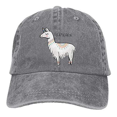 ONGH Niedliche Lamas Unisex verstellbare Baseball Caps Denim Hüte Cowboy Sport im Freien