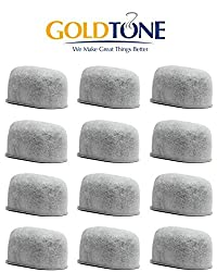 GoldTone (TM) Replacement Charcoal Water Filter Cartridges for Keurig Classic and 2.0 Coffee Maker Machines - 12 Pack