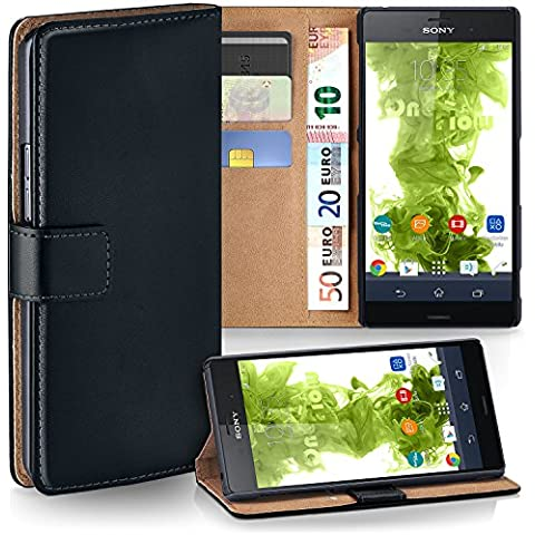 Bolso OneFlow para funda Sony Xperia Z3 Compact Cubierta con tarjetero | Estuche Flip Case Funda móvil plegable | Bolso móvil funda protectora accesorios móvil protección paragolpes en