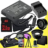 Canon EOS M 18 MP CMOS Mirrorless Digital SLR Camera LP-E12 Lithium Ion Replacement Battery + External Rapid Charger + 32GB SDHC Class 10 Memory Card + 43mm 3 Piece Filter Kit + SDHC Card USB Reader + Memory Card Wallet + Deluxe Starter Kit + Wide Angle /
